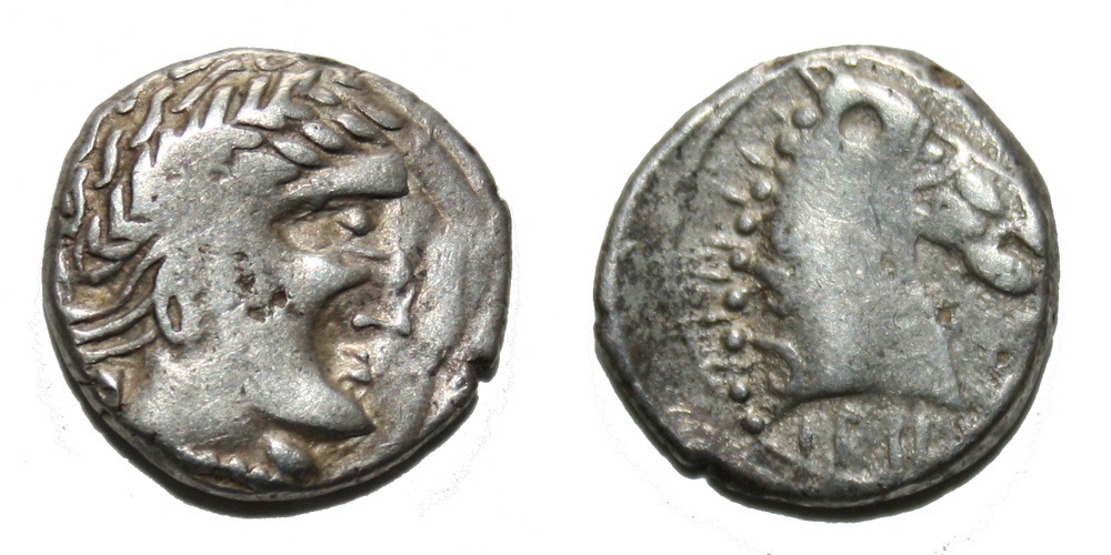 Monnaie gauloise CAVARES Denier IALKOVESI au buste de cheval Rare