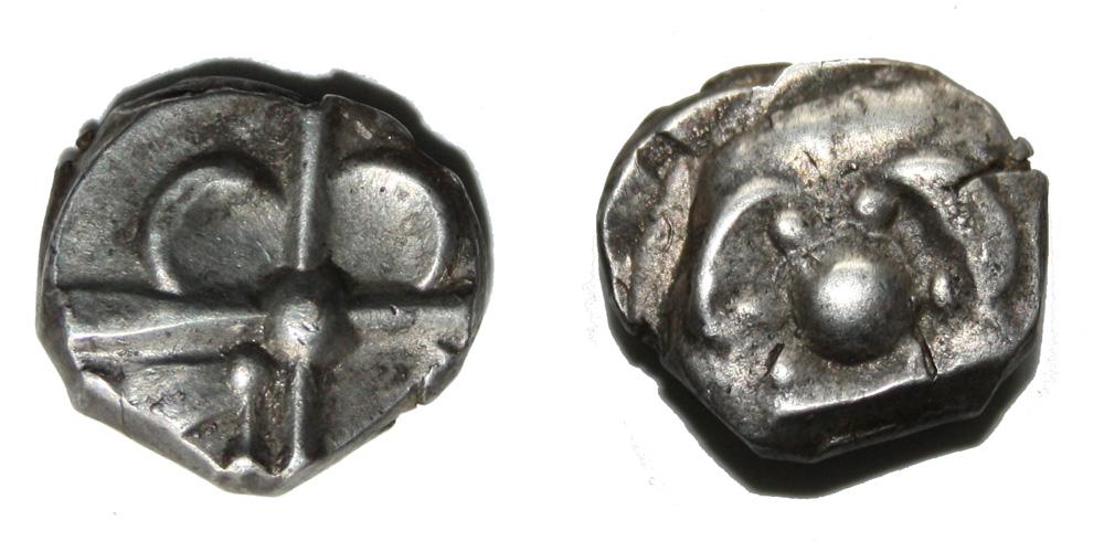 Monnaie gauloise SOTIATES Drachme trilobée Rare