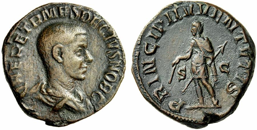 Herennius Etruscus Prince de la Jeunesse sur un sesterce