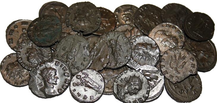 Quelques monnaies romaines du IIIème siècle