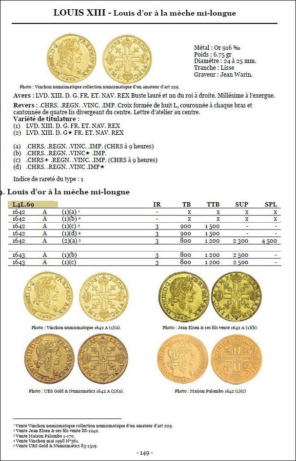 Exemple de page du livre Les monnaies des quatre rois Louis