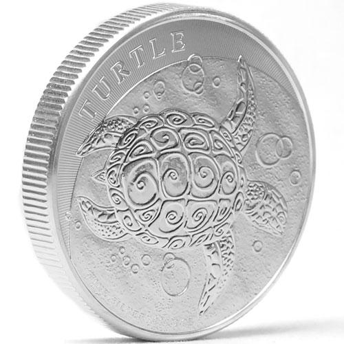 Profil de la pièce pièce d'argent 2 onces Tortue de Nive