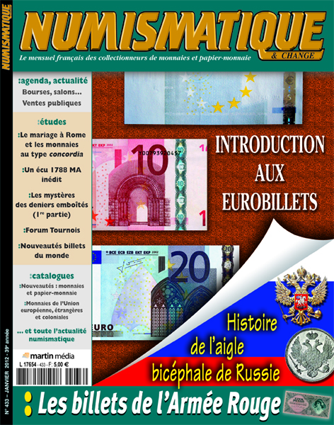 Numismatique et Change Magazine, numero 433 janvier 2012