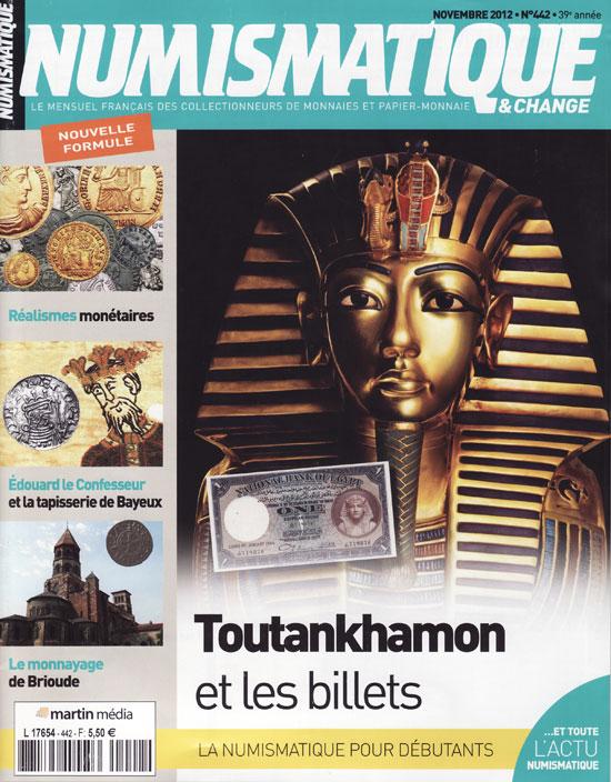 Numismatique et Change Magazine, numero 440 novembre 2012