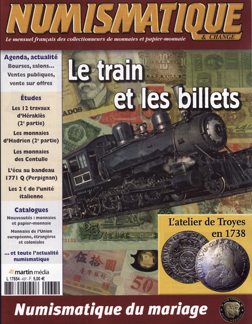 Numismatique et Change Magazine, numero 437 mai 2012