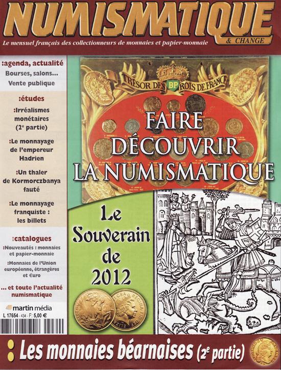 Numismatique et Change Magazine, numero 434 fevrier 2012
