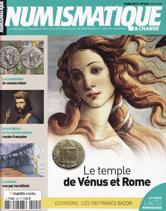 Numismatique et Change Magazine, numero 445 mars 2013