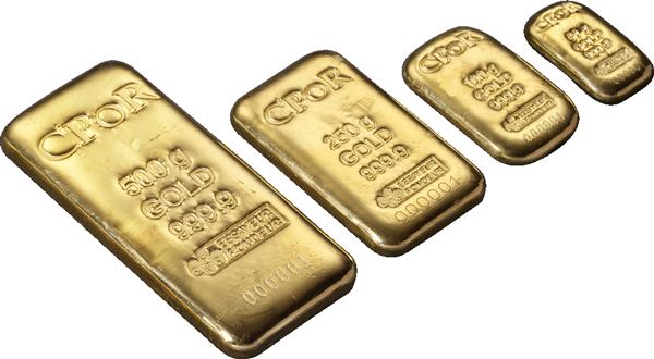 Photo : quelques lingots d'or