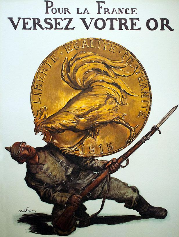 Affiche d'Abel Faivre l'or combat pour la victoire