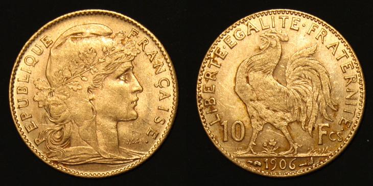 10 francs Coq 1906