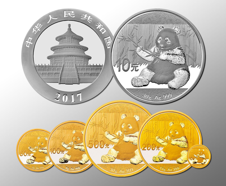 12 nouvelles pièces d'or et d'argent au millésime 2017