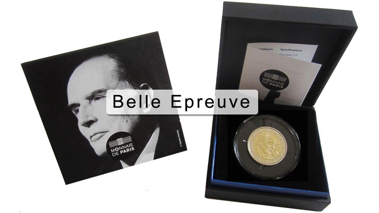 Photo de la pièce 2 euro Belle Epreuve François Mitterrand