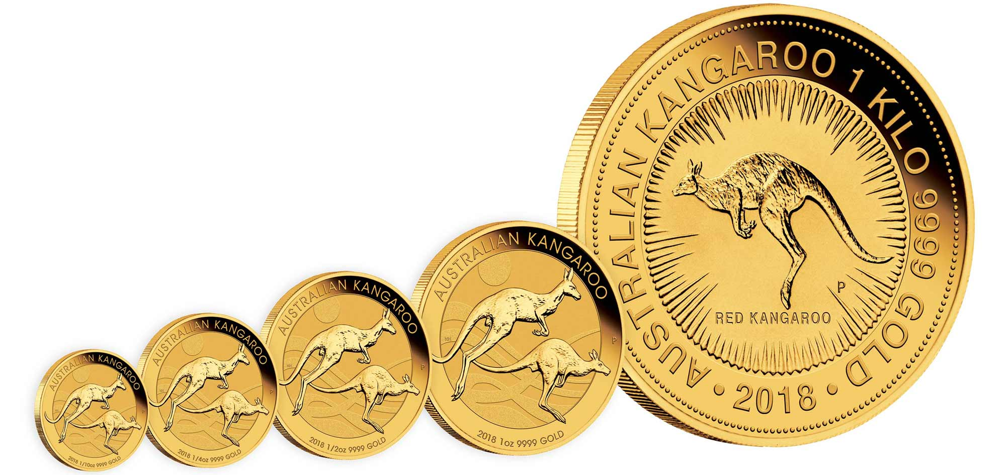 Photo des nouvelles pièces d'or d'investissement au kangourou d'Australie 2017