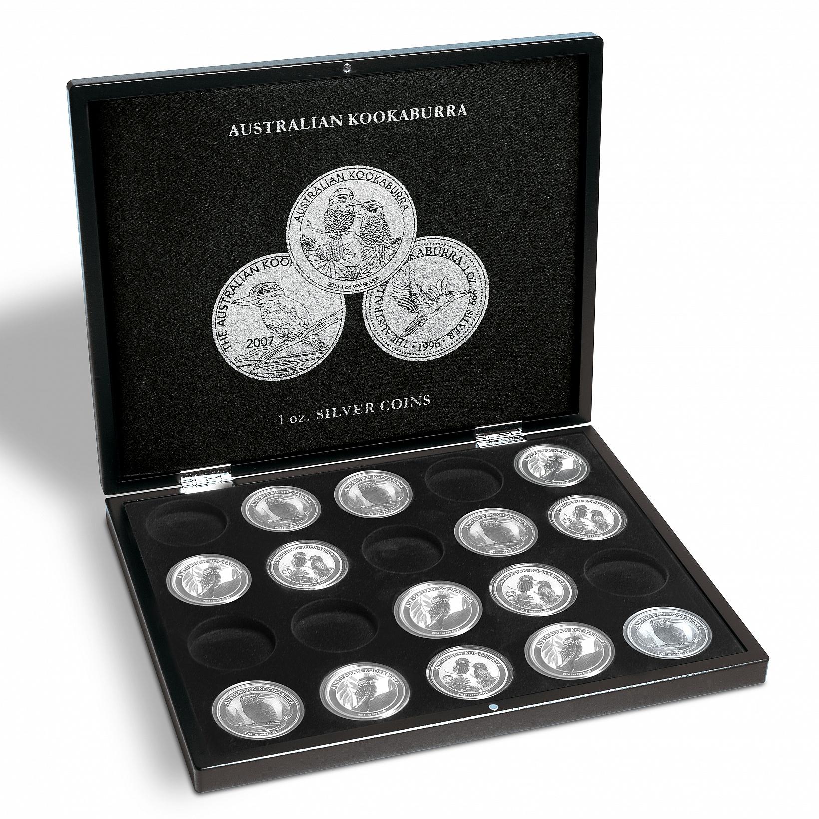 Coffret pour pièces argent kookaburra ouvert