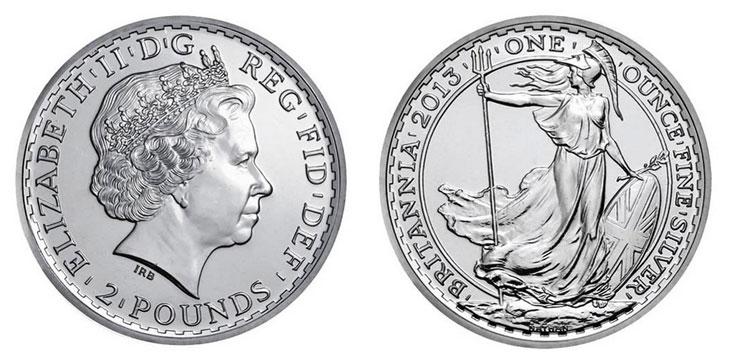 Pièce d'argent d'une once Elizabeth II
