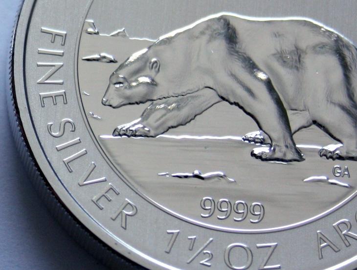 Image de la piece d'argent ours polaire 1.5 once