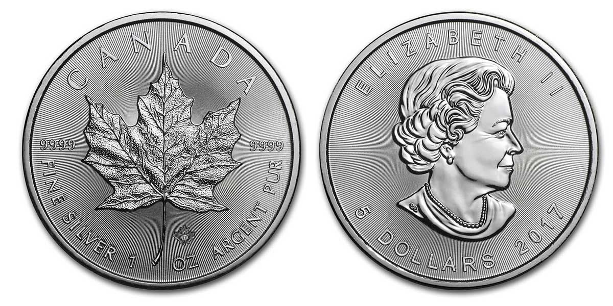 Pièce d'argent 1 once Canada Maple Leaf 2017