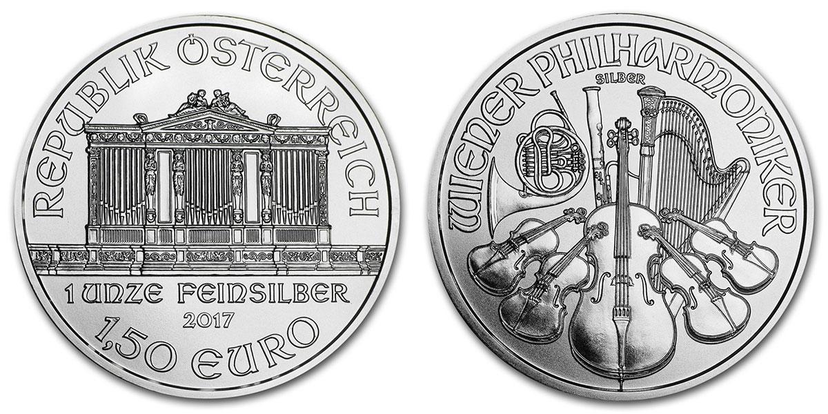 Pièce d'argent 1 once Autriche Philharmonique de Vienne 2017