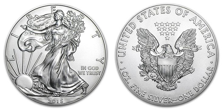 Photo d'une pièce américaine d'1 dollar argent Silver Eagle