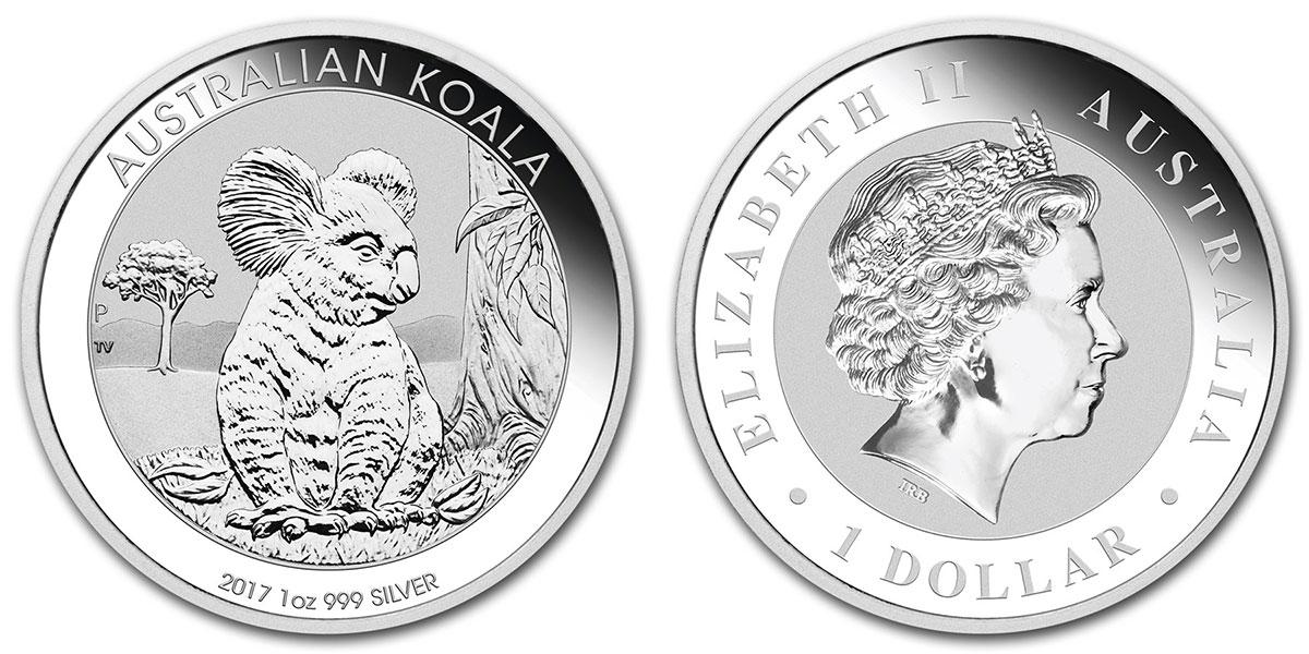 Pièce d'argent 1 once Australie Koala 2017