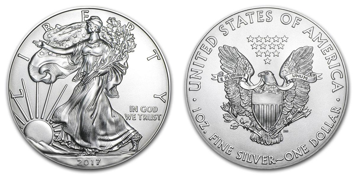 Pièce d'argent 1 once Silver Eagle 2017