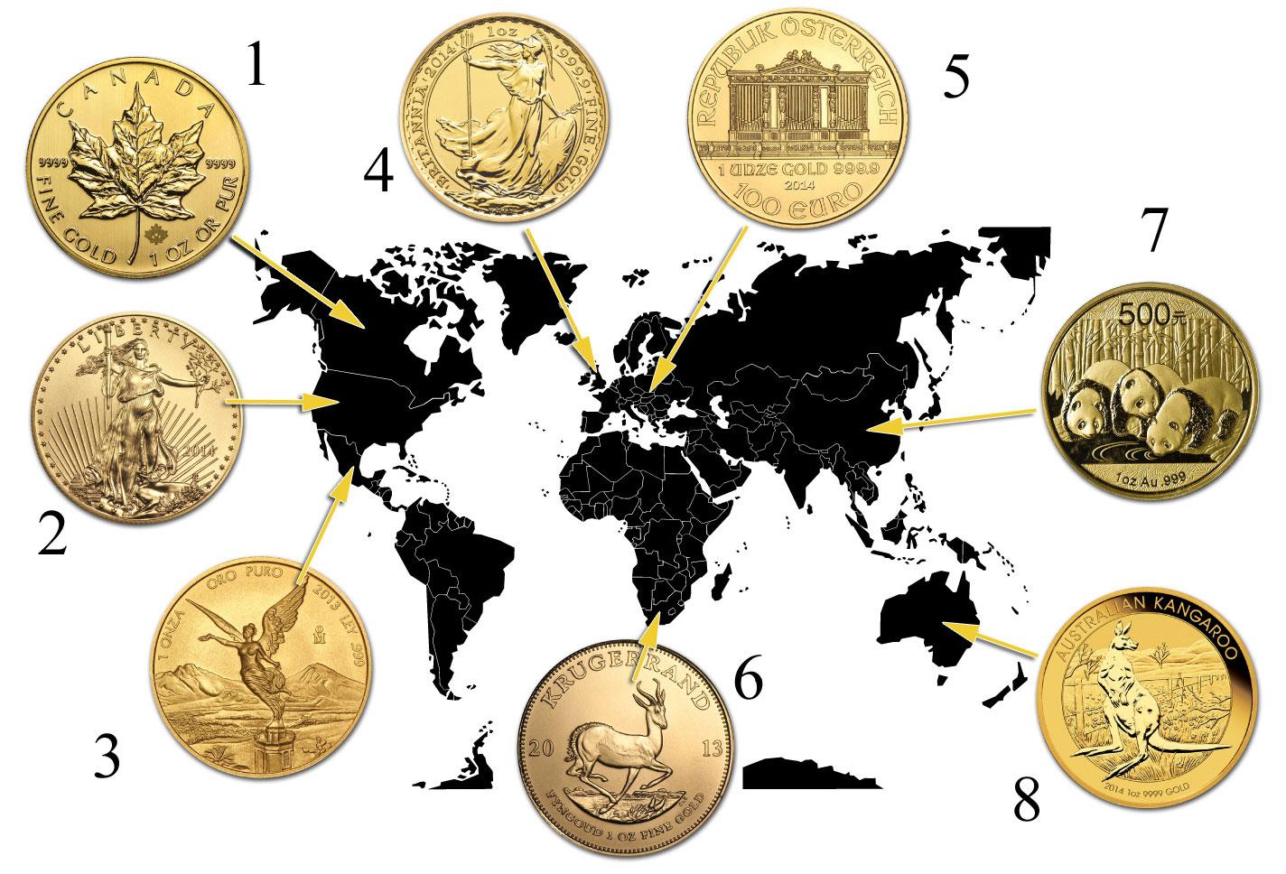 Quelques pièces d'or d'investissement