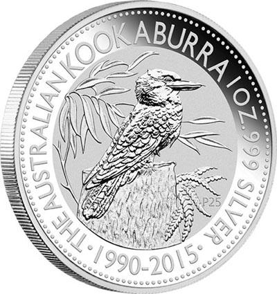 Piece argent Kookaburra 2015