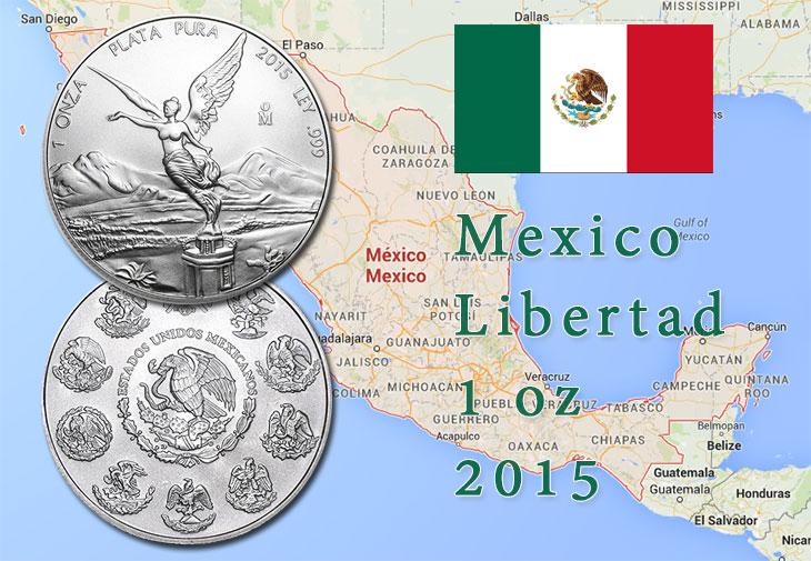 Pièce d'argent Mexico libertad 1 once 2015
