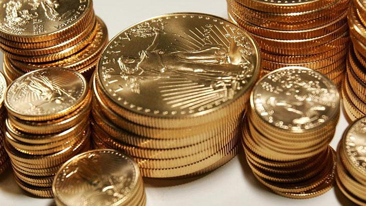 Photo de pièces d'or American Eagle