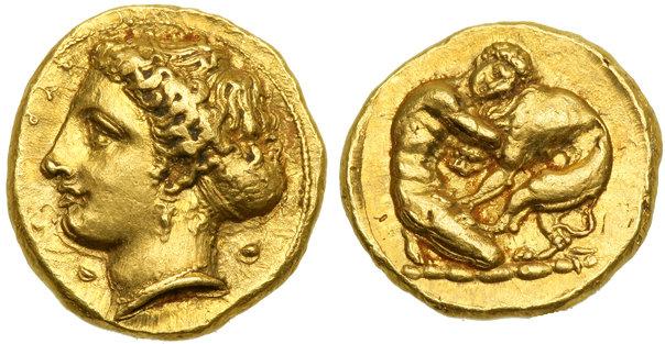 Pièce d'or : Syracuse, pièce d'or de Sicile
