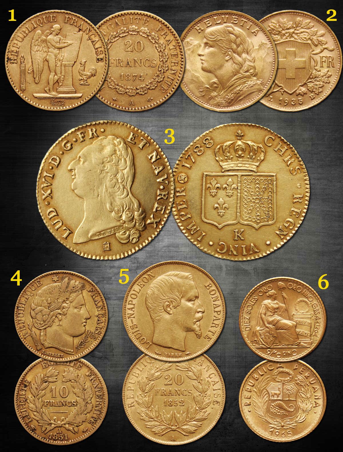 Quelques pièces d'or