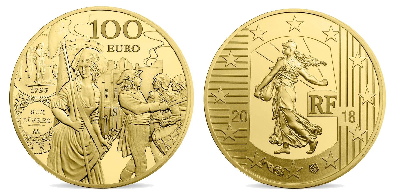 L'écu de 6 livres monnaie de 1/2 once or 2018