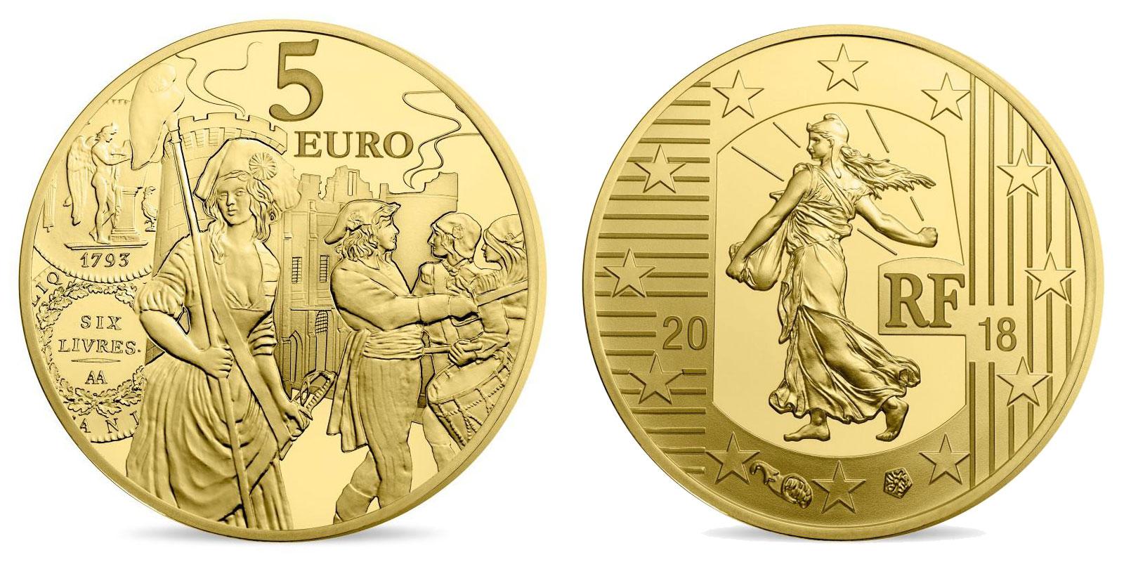 L'écu de 6 livres monnaie de 1/2 gramme or 2018
