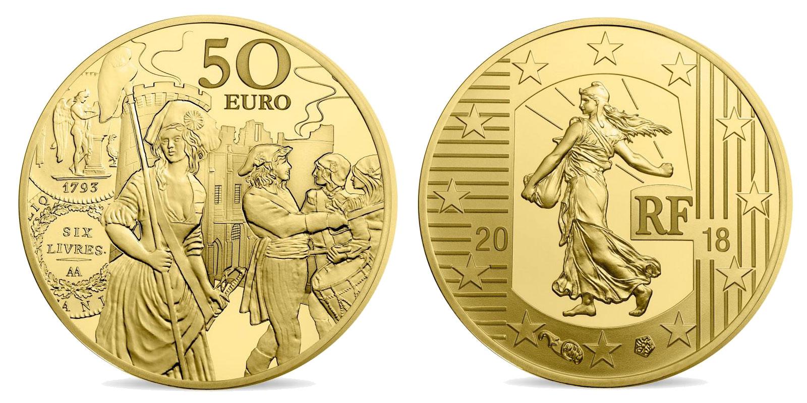 L'écu de 6 livres monnaie de 1/4 once or 2018