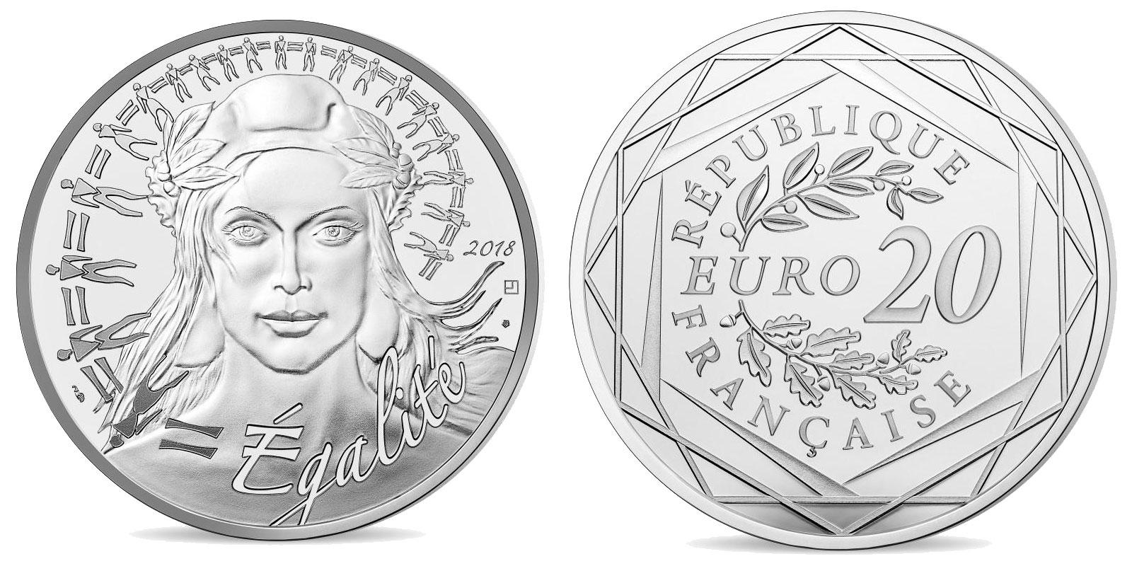 Pièce argent Monnaie de Paris 20 euro Marianne 2018