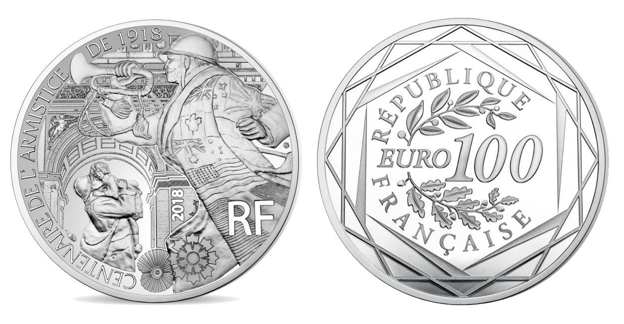 Image de la pièce 100 euro Armistice 1918