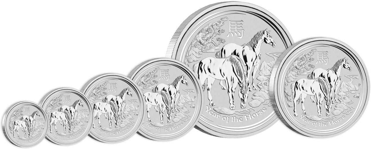 Pièces d'argent Lunar Horse : disponibles à partir d'une demie once