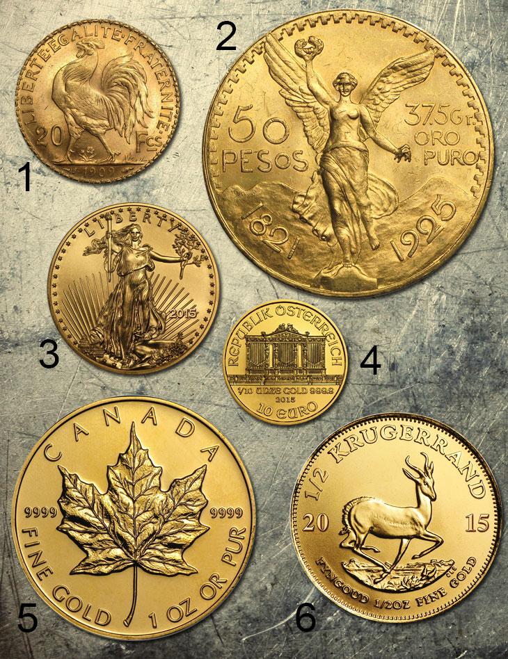 Photo de diverses pièces d'or