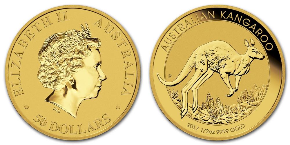 Pièce or Australie 1/2 once Kangourou en or