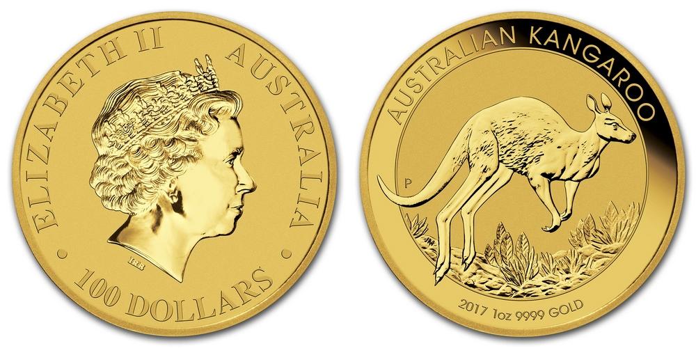 Pièce or Australie 1 once Kangourou en or