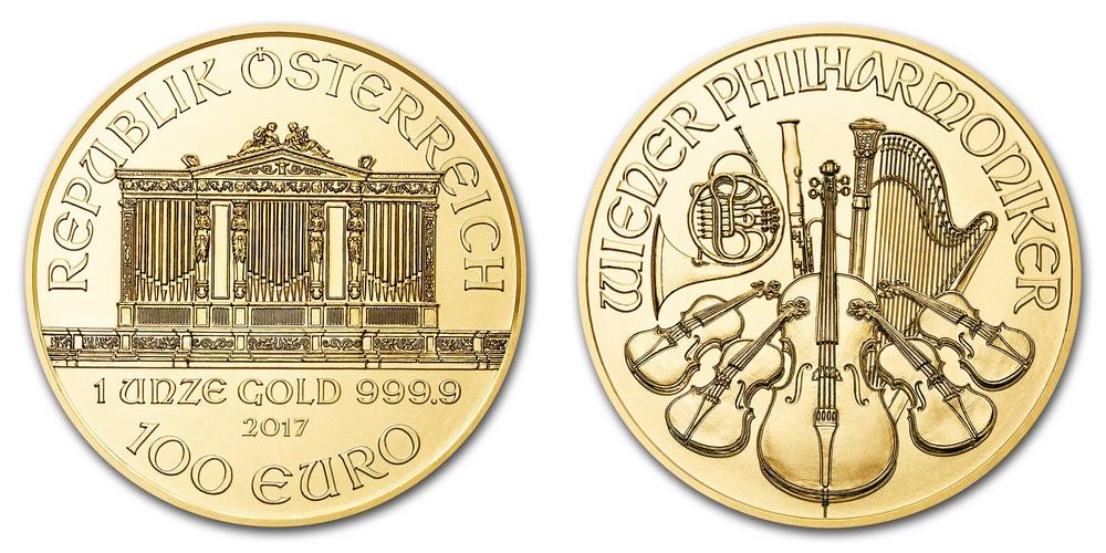 Pièce or Autriche 1 once Philharmonique de Vienne en or