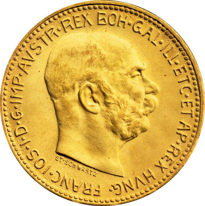 20 couronnes or Autriche avers