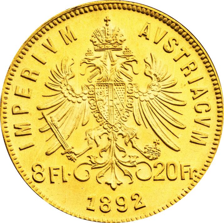 8 florins d'or Autriche revers