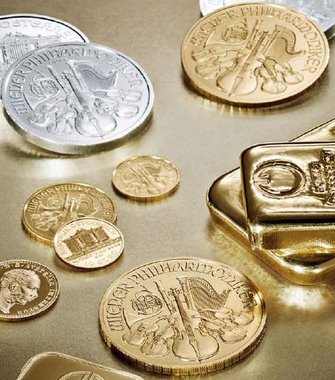 Quelques pièces d'or et d'argent d'investissement d'Autriche