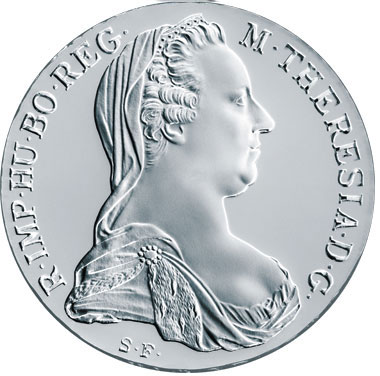 Thaler d'argent Marie Thérèse d'Autriche avers
