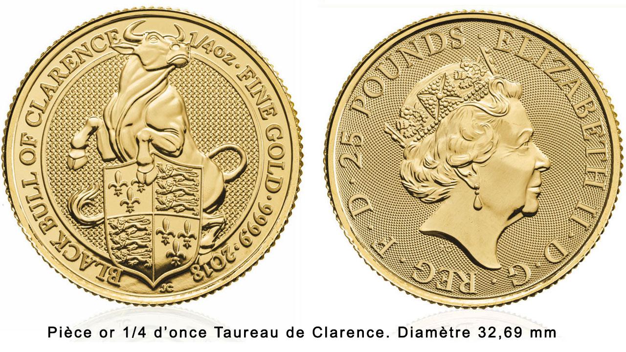 Pièce d'or 1 onces Taureau noir de Clarence 2018