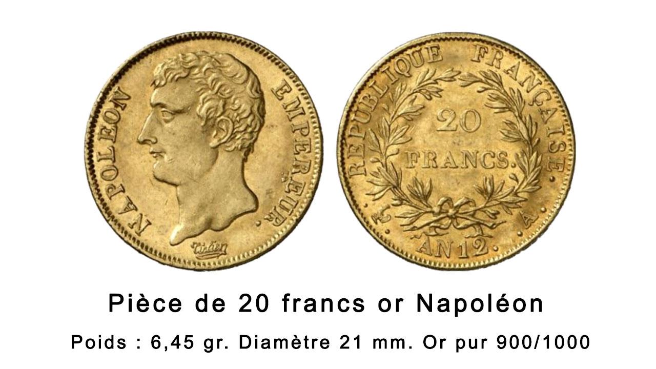 Pièce de 20 francs or Napoléon