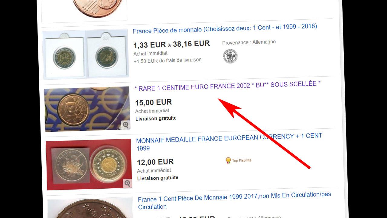 La pièce française dont le tirage est le plus faible est la pièce de 1 centime 2002
