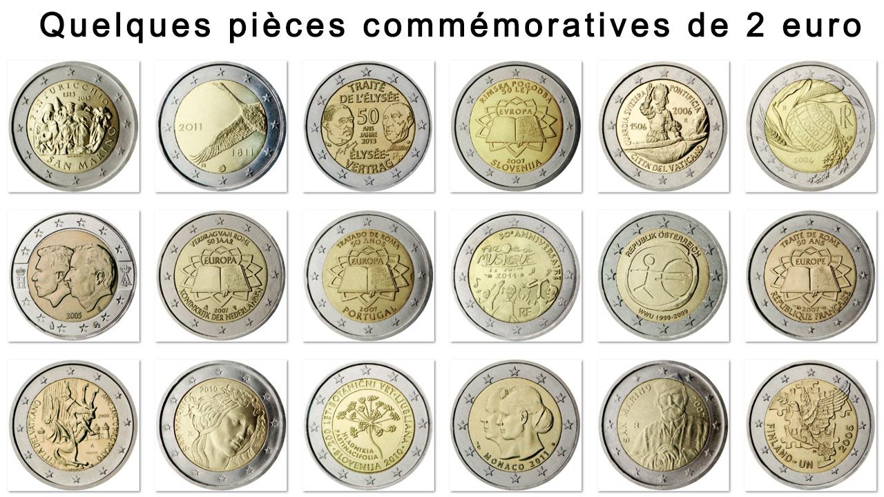 Exemple de pièces commémoratives de 2 euro