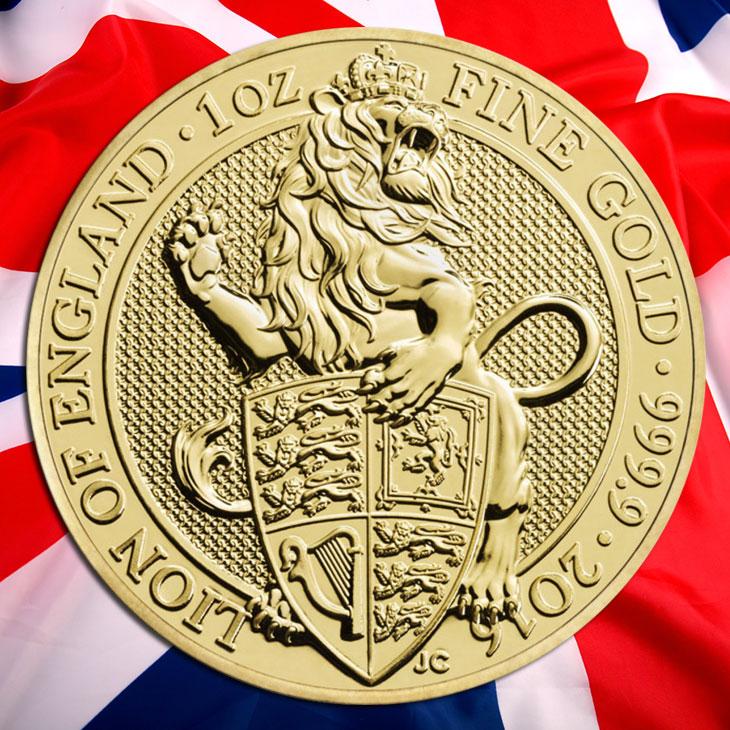 Photo de la nouvelle pièce Queens's Beast d'Angleterre